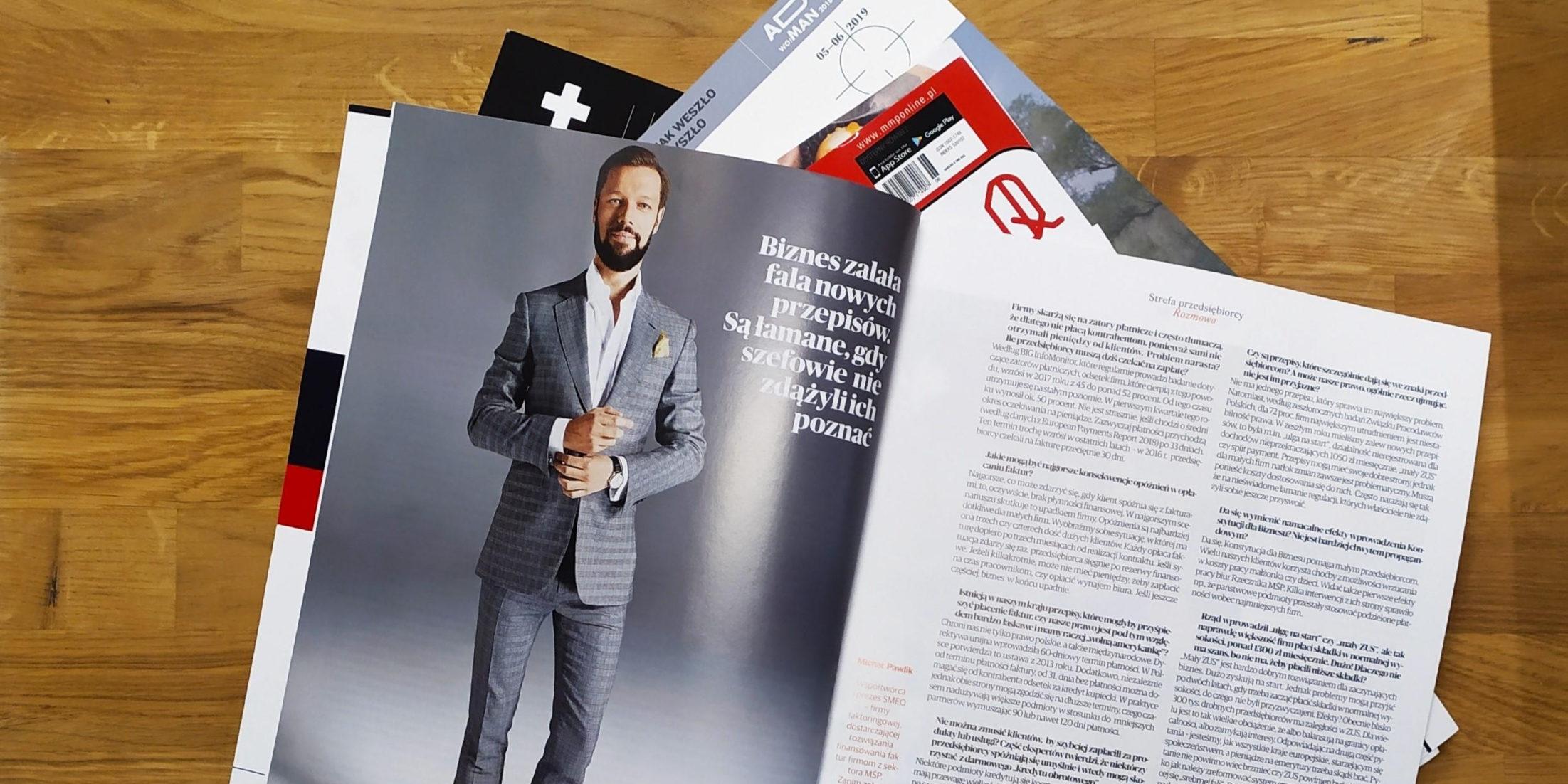Michał Pawlik CEO SMEO w prasie